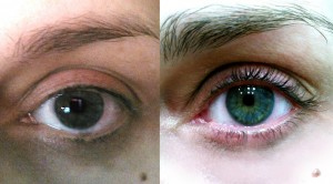 before and after fysiko eyelash serum